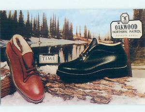 Pre-1980 Postcard Ad - Oakwood Northern Patrol Outdoor Boot Company F0348