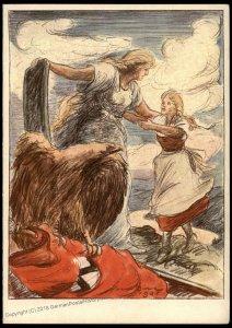 3rd Reich Germany Austria Czech Annexation 1938 Anschluss Propaganda Card 95443