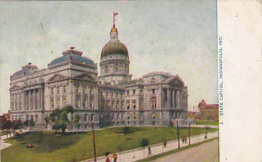 Indiana Indianapolis State Capitol 1909
