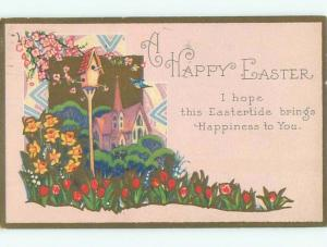 Divided-Back EASTER SCENE Great Postcard AA1364
