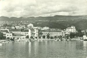 Croatia, Crikvenica, 1966 used real photo Postcard