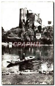 Old Postcard Bourbon L & # 39Archambault Chateau seen from & # 34Etang