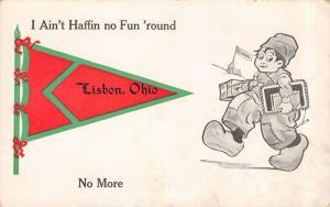 Ain't Havin' No Fun in Lisbon Ohio~No More~Back to School~1914 Pennant PC