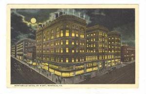 Monticello Hotel, by Night, Norfolk, Virginia, PU-1919
