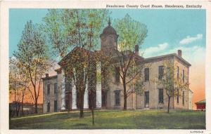 C71/ Henderson Kentucky Ky Postcard Linen Henderson County Court House