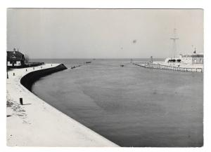 France Trouville Old Pier Mouth of Touques Anciennes Jetee Glossy Photo Postcard