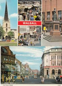 Walsall Freeman Hardy Willis Markets C&A 2x Postcard