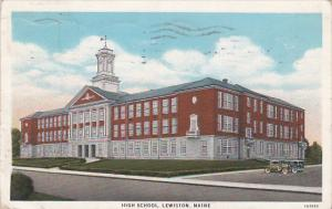 High School, Lewiston, Maine, PU-1938