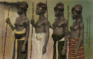 PC CPA ETHNIC NUDE FEMALE MALINKÉ TYPE, WESTERN AFRICA Vintage Postcard (b5353)