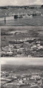 Falmouth Docks 3x 1960s Real Photo Birds Eye Stunning Postcard s