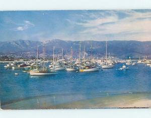 Pre-1980 HARBOR SCENE Santa Barbara California CA hp7680