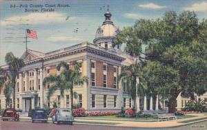 Florida Bartow Polk County Court House 1957