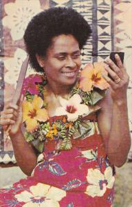 SUVA, Fiji, 1940-1960´s; Woman Getting Ready For The Dance