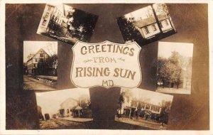 Rising Run Maryland Greetings Multiview Real Photo Postcard AA4007