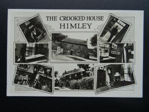 Staffordshire HIMLEY The Crooked House 8 Image Multiview c1940s RP Postcard