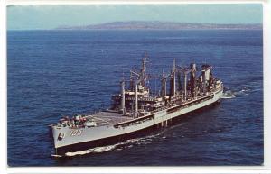 USS Mispillion Fleet Oil Tanker US Navy Ship postcard
