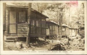Muskoka Ontario Cottages by Lakeside Canadian Keswick Real Photo Postcard