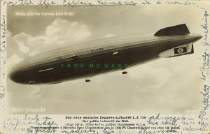 1936 Hindenburg Zeppelin Real Photo PC: Aloft, Mailed by Passenger (Scherl)