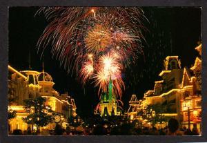 FL Walt Disney World Fireworks Cinderella Castle Amusement Park Orlando Florida