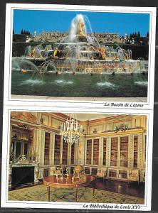 France, Versailles, two attached cards, unused