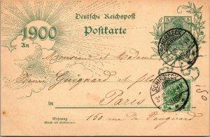 RARE - PARIS , France 1899 POSTED Schirmeck - Vintage Postcard