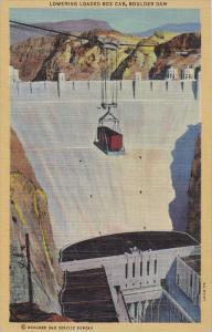Lower Loaded Box Car , Boulder Dam , Nevada , 30-40s