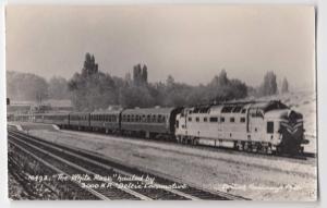 British Railways RP PPC; 'The White Rose' Hauled By 3000 HP Deltic Loco, Unused