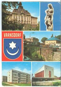 Czech Republic, VARNSDORF, 1970s used Postcard