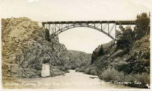 CO - Sapinero, Gunnison River, Highway Bridge over Lake Fork   RPPC