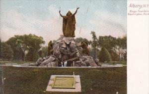 New York Albany Kings Fountain Washington Park