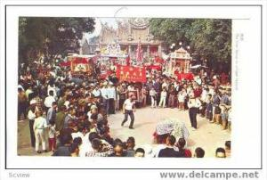 The Lion Dance in village Festival, Taiwan, Republic of China, 40-60s