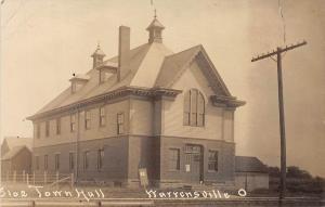 D11/ Warrensville Ohio Postcard Real Photo RPPC Leiter Lorain c1912 Town Hall