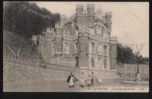 100610 FRANCE Le Havre Une Villa de la Cote Vintage PC