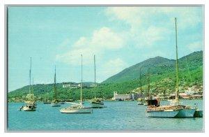 St. Thomas U. S. Virgin Islands Charlotte Amalie Vintage Standard View Postcard
