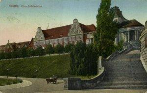 poland, SZCZECIN STETTIN, Ober-Zolldirektion (1922) Postcard