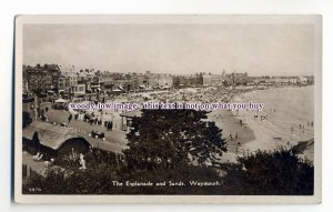 aj0581 - Dorset - Weymouth Esplanade and Sands, from the Cliffs - Postcard