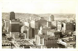 Seattle, Washington, Partial View (1950s) Johnston RPPC 750
