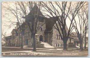 Sturgis Michigan~Methodist Episcopal ME Church~Victorian Home Next~1910 RPPC