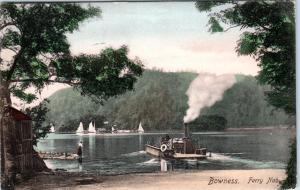 BOWNESS, Cumbria  England    Handcolored   FERRY NAB  1904   Postcard