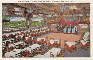 NEW YORK CITY,  30-40s ; Dining Room, Village Barn, 52 West 8th Street