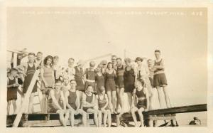 Pequot MN~Fawcett's Breezy Point Lodge~Vintage Bathing Beauties~Bums~1920s RPPC