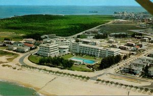Mozambique Beira Aerial View Of The Beach and Grand Hotel