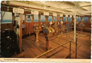RMS Queen Mary Navigating Bridge, Interior. (tears, creases)