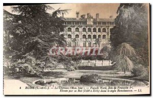 Old Postcard Blois L and C Le Chateau My hist North Facade called Francois 1er