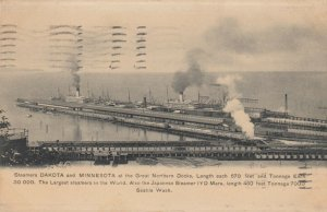 SEATTLE , Washington , 1907 ; Great Northern Docks