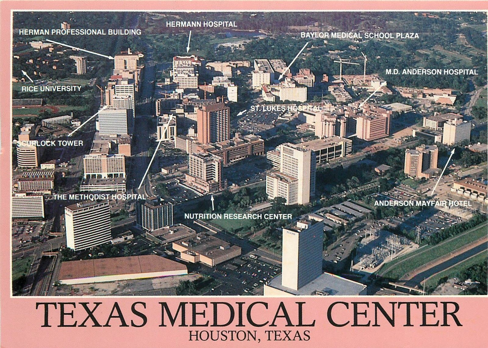 Texas Medical Center Houston United Stated aerial view schools