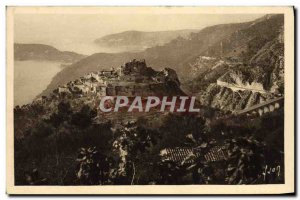 Old Postcard Eze Vue Generale Village