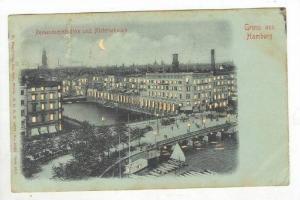 HTL: Gruss aus Hamburg, Germany, PU-1907 Reesendammbrucke und Alskerarkaden
