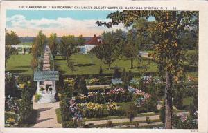 New York Saratoga Springs The Gardens Of Inniscarra Chauncey Olcott Cottage
