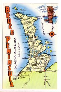 Bruce Peninsula Ontario Pictorial Map